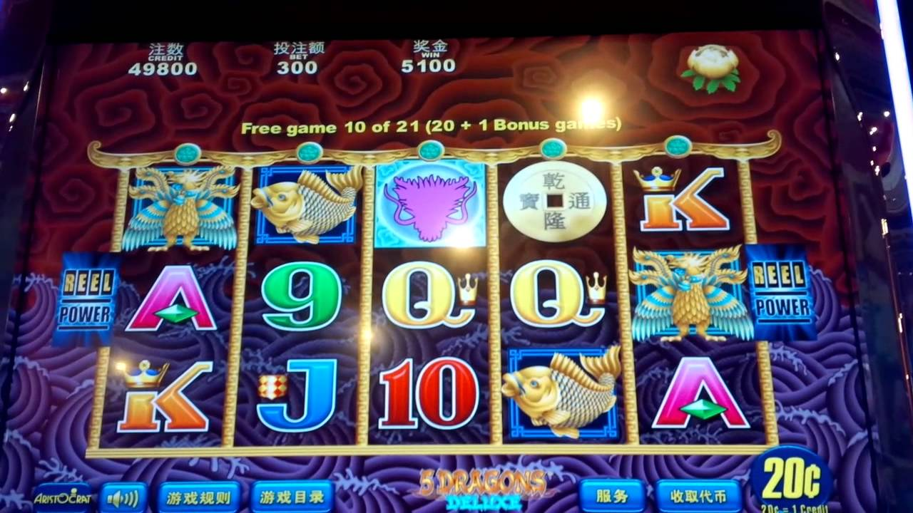 5 Dragon Deluxe Max Bet Casino Venetian Macau Youtube