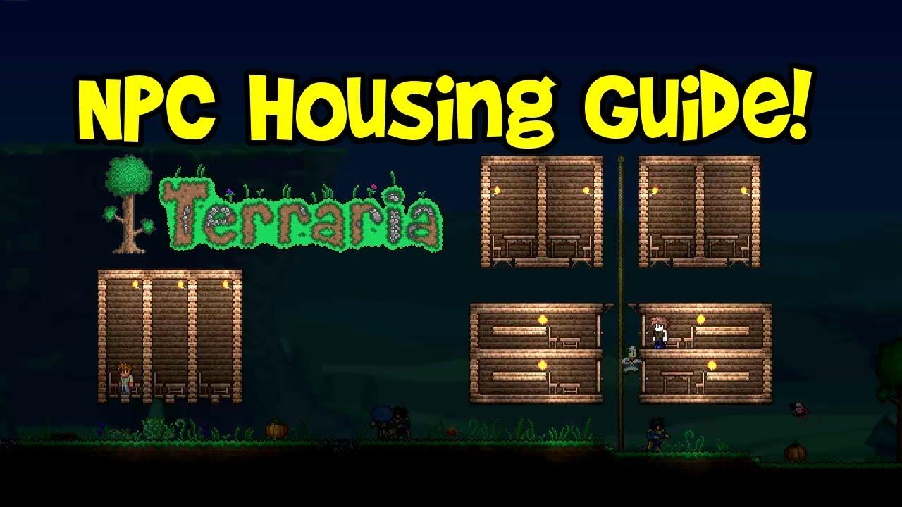 Terraria npc house design tutorial ideas guide requirements compact hotel village tips