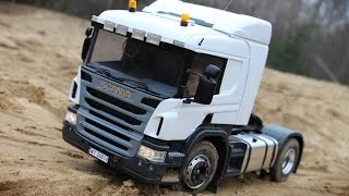 RC SCANIA P440 4x4 and MAN TGS 4x4 Sand Transport / RC Truck 4x4 OFF-ROAD