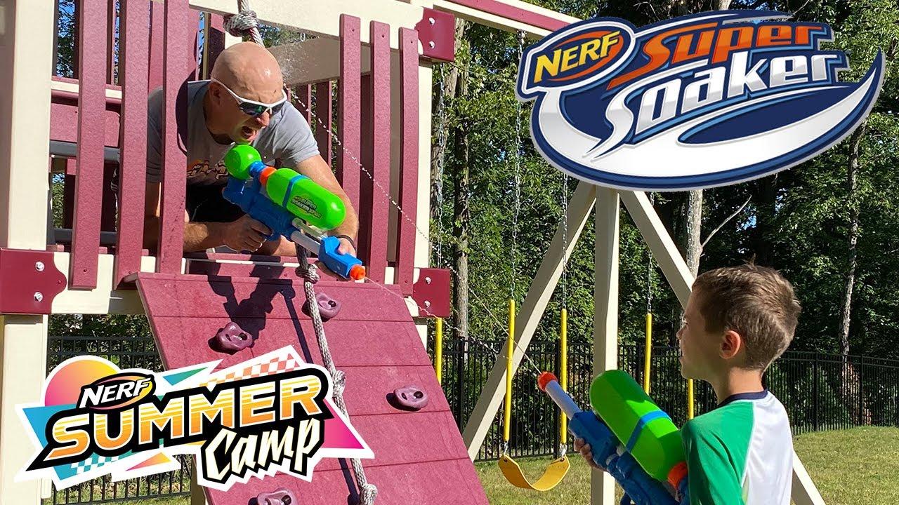Nerf Summer Camp:  Bro vs Bro FINAL BATTLE (Super Soaker Water Blaster Secret Message)