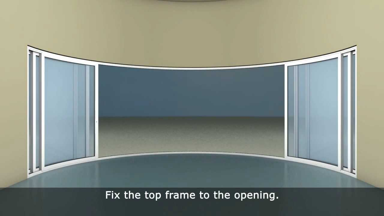 How To Install A Curved Sliding Doors By Balcony Systems Solutions    Www.Balconette.co.uk (W6 F)   YouTube