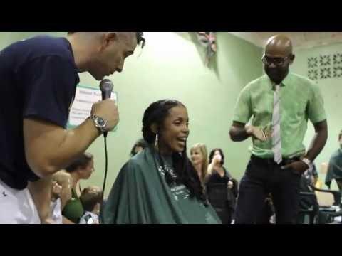 Alana Anderson St Baldrick's Foundation Fundraiser Bermuda Mar 16 2012