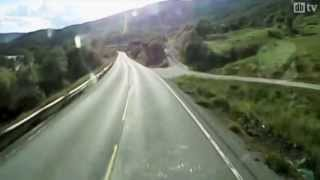 Reckless driving in semi-trailer truck (Norway)
