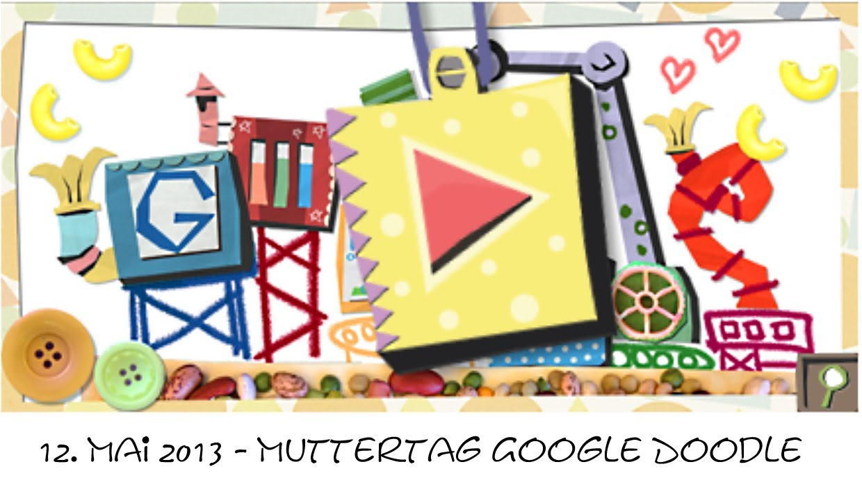 muttertag 2013 google doodle video mit musik hd youtube. Black Bedroom Furniture Sets. Home Design Ideas
