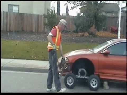 Car Wheel Dolly >> Collins Dolly Tow Cradle - YouTube