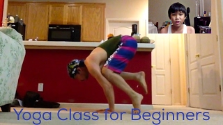 Yoga Class for Beginners. Crane Pose (Bakasana)