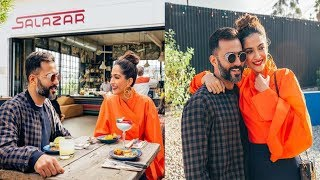 Sonam Kapoor is a happy wife as she dines with husband Anand Ahuja on their LA vacation