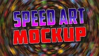 Speed art #2 | Business card Mokcup
