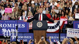Trump holds a rally in Minnesota thumbnail