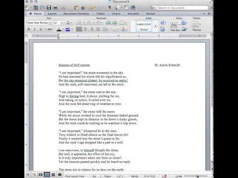 Typing a Poem - Seasons of Self-esteem