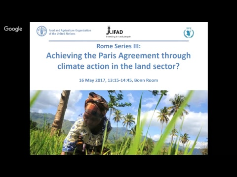 FAO: Achieving the Paris Agreement through climate action in