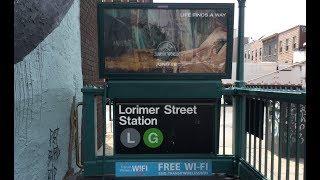 MTA NYC Subway: R68 (G) Train & R143, R160 (L) Train @ Lorimer Street & Metropolitan Avenue