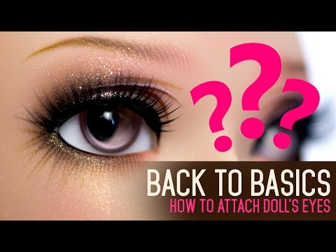 194a8082c81 How to attach doll's eyes - Back to Basics ep01 - YouTube