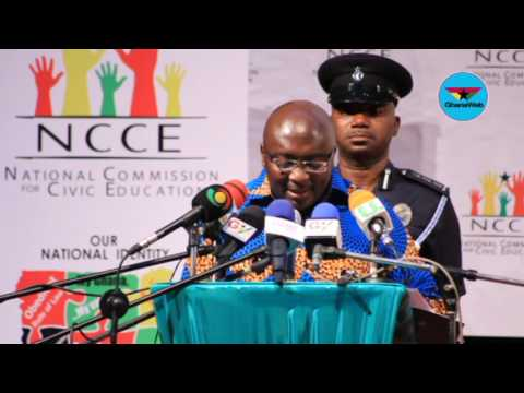 Bawumia's full speech at the 2017 NCCE National Dialogue