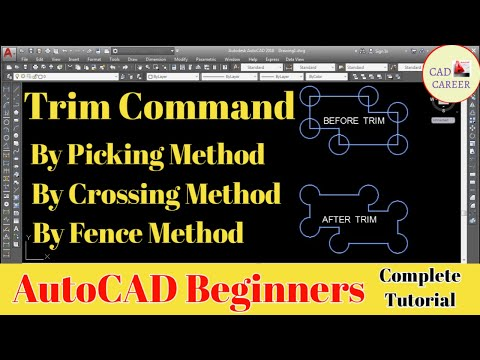 Trim command in Auto CAD