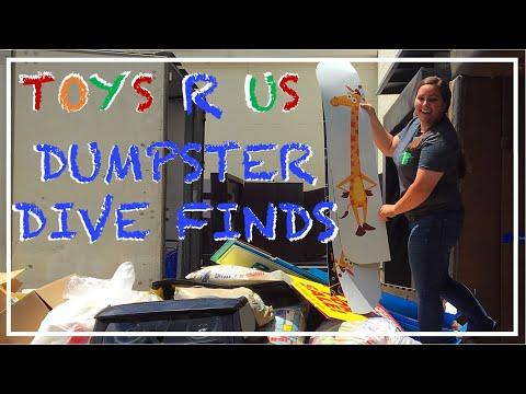 LAST VISIT TO TOYS R US! - CRAZY DUMPSTER DIVE FINDS!