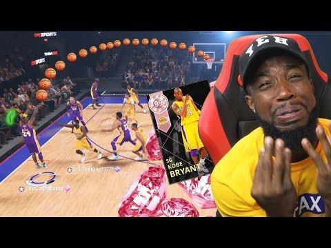 I Pulled Pink Diamond KOBE! INSANE HALF-COURT CONTESTED SHOT! NBA 2k18 MyTeam