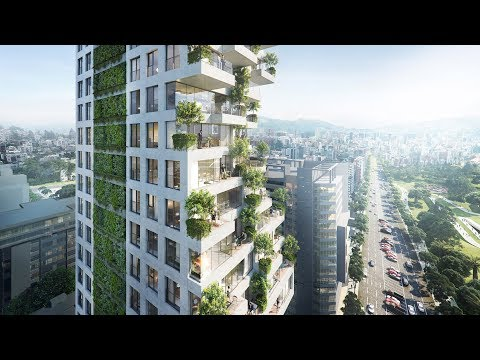 """Safdie Architects' staggered Qorner tower for Quito to feature """"hillside of terraces"""""""