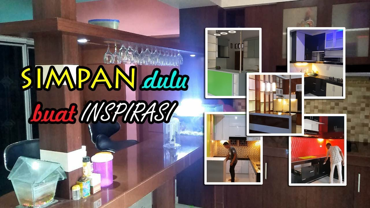Model Kitchen Set Dan Mini Bar Dapur Minimalis Modern Youtube