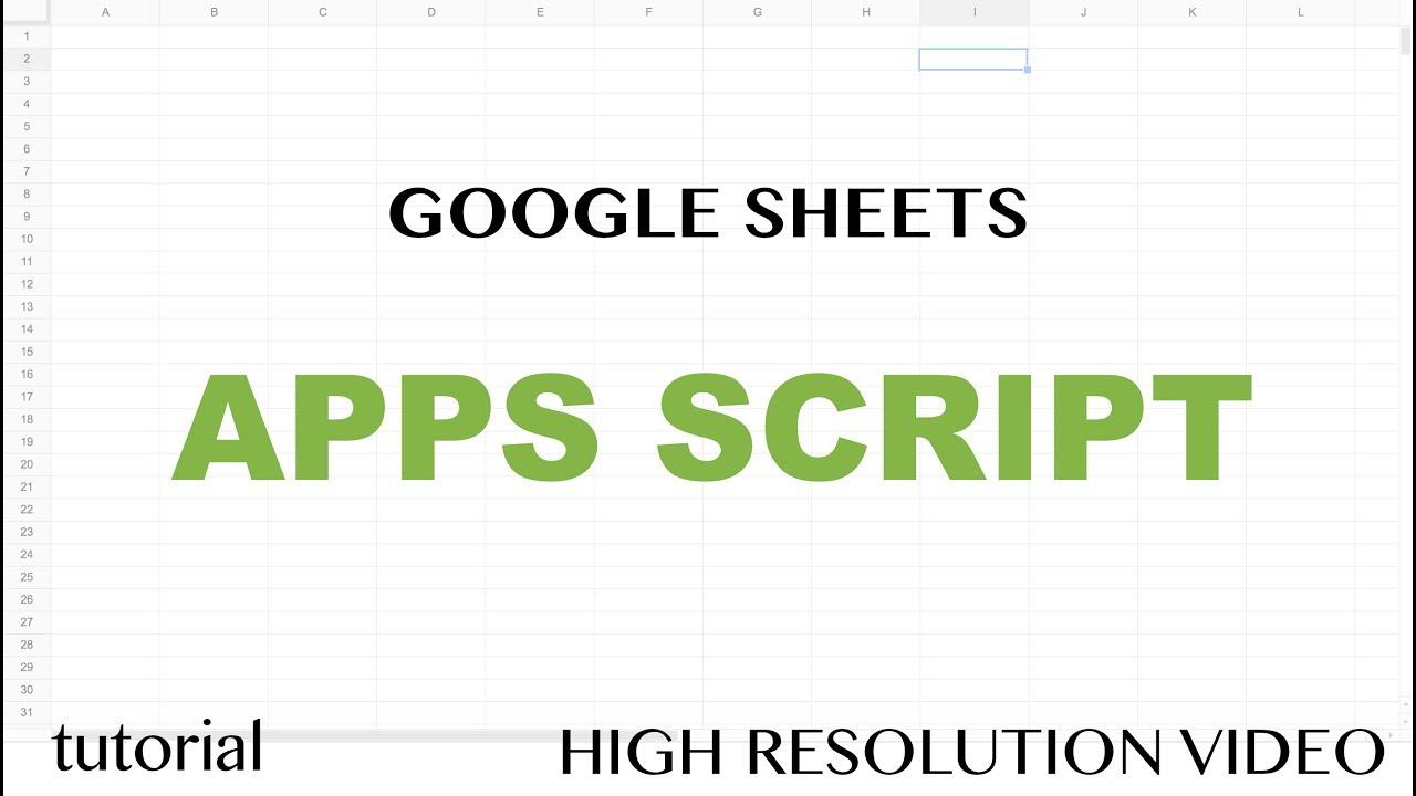 Google Sheets Apps Script Tutorial - Clear Contents