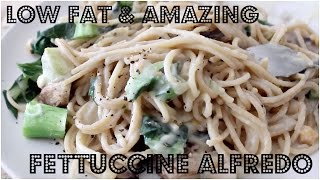 AMAZING LOW FAT FETTUCCINE ALFREDO | Cheap Lazy Vegan