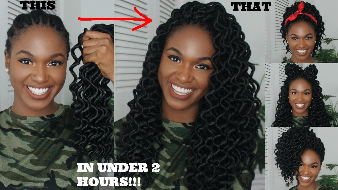 How To Crochet And Style Wavy Goddess Locs In Less Than 2 Hours  7 Styling  Options!
