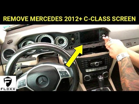 MERCEDES HOW TO: REMOVE 2012+ C-CLASS W204 DISPLAY SCREEN