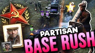 Partisan Base Rush [4v4] [SOV] [General Mud] — Comṗany of Heroes 2