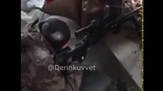 Bordo bereli YPGliyi Avlıyor afrin (2018)(2)