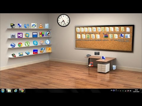 How to make a Beautiful Classic 3D Desktop in Windows
