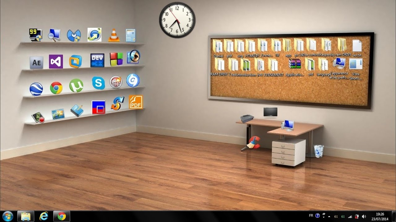 Classic 3d Desktop Workplace Wallpaper How To Make A Beautiful Classic 3d Desktop In Windows