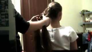 Хвіст і плетіння з нього на довге волосся