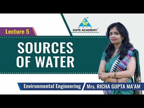 Sources Of Water | Lecture 5 | Environmental Engineering