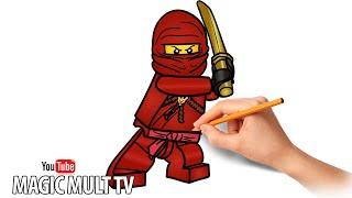 Як намалювати Кая червоного ніндзя - LEGO NINJAGO