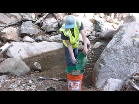 Gold Placer Prospecting.  Boulder County, Colorado U.S.A. Oct 2015 - Short