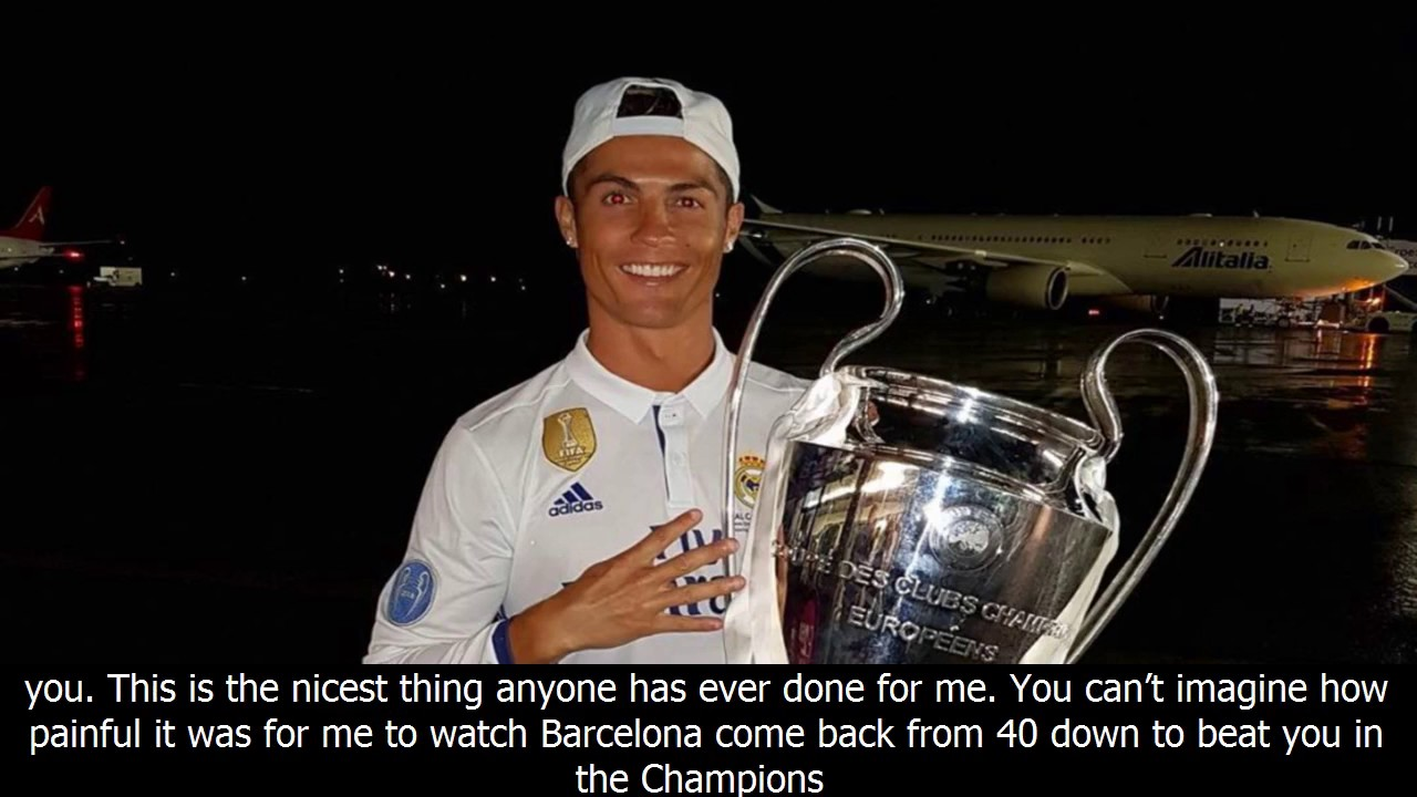 Cristiano RonaldoS Heartfelt ThankYou Letter To Psg  Youtube