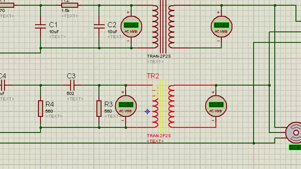 hight resolution of single phase to 3 phase converter circuit