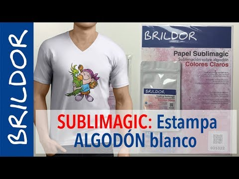 Estampa camisetas de algodón por sublimación con SUBLIMAGIC
