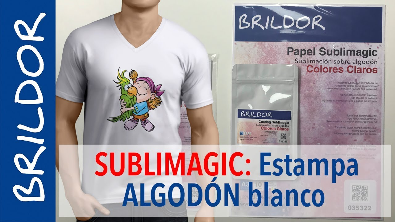 Estampa camisetas de algodón por sublimación con SUBLIMAGIC - YouTube 7aa6e705da6