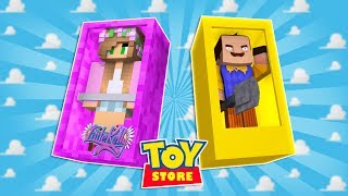 HELLO NEIGHBOUR MOVES INTO THE STORE! Minecraft ToyStore