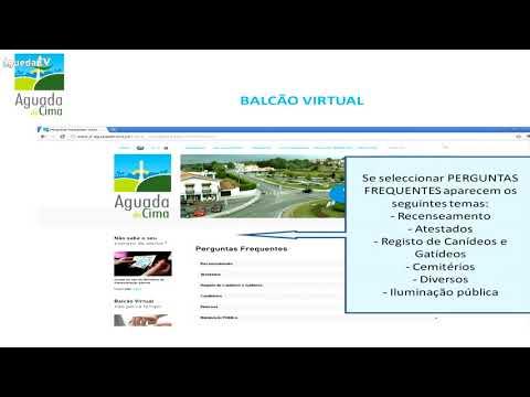 Suporte em Vídeo - Balcão Virtual - Aguada de Cima