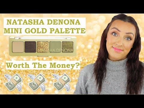 Natasha Denona Mini Gold Palette | Review And Demo