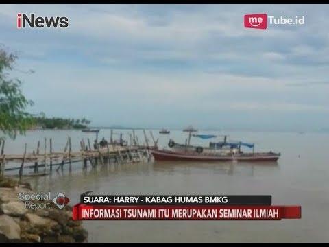 Kabag Humas BMKG: Informasi Tsunami untuk Seminar Ilmiah & Simulasi Gempa - Special Report 04/04