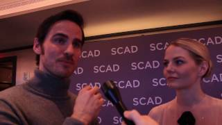 once upon a time s jennifer morrison and colin o donoghue atvfest 2017