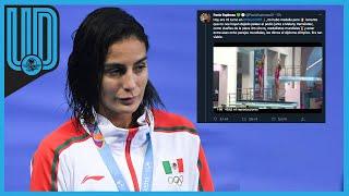 La clavadista mexicana se manifestó, luego de que sus compatriotas culminarán la prueba de trampolín tres metros en cuarto lugar