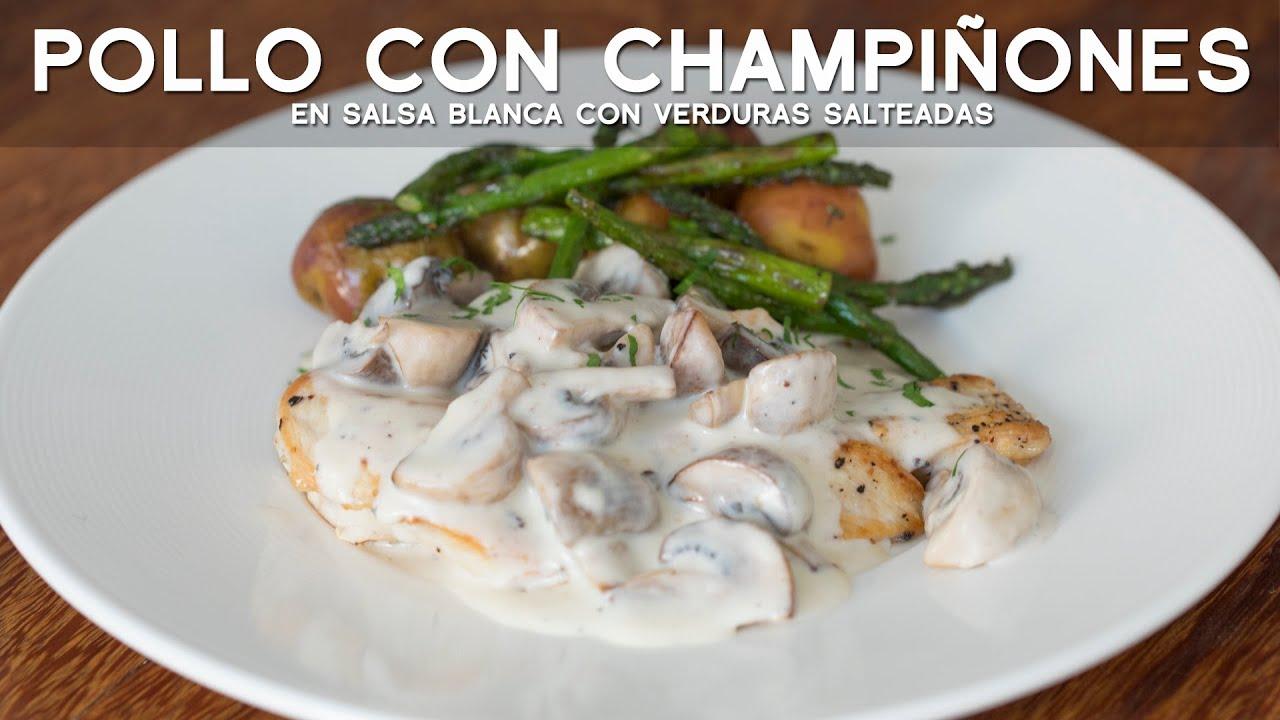 COMO PREPARAR POLLO CON CHAMPIÑONES EN SALSA BLANCA | ACOMER.PE | RECETA