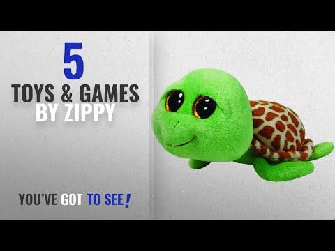 Top 10 Zippy Toys & Games [2018]: Ty Beanie Boos Zippy Green Turtle Plush
