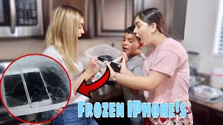 We Froze Our Kids iPhones!!! (They Cried)