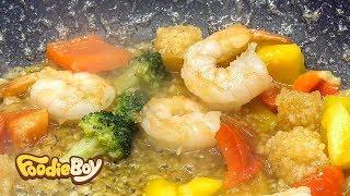 경주 중앙시장 야시장 길거리 음식 / 갈릭새우버터구이(Grilled Garlic Butter Shrimp) / Korean Street Food / Gyeongju Korea
