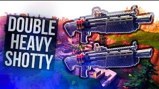 NEW DOUBLE PUMP?! 2 Heavy Shotguns vs Tilted Towers (Fortnite Battle Royale)